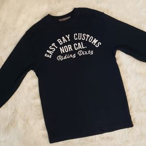 East Bay Old Navy Long Sleeve Navy Blue Thermal